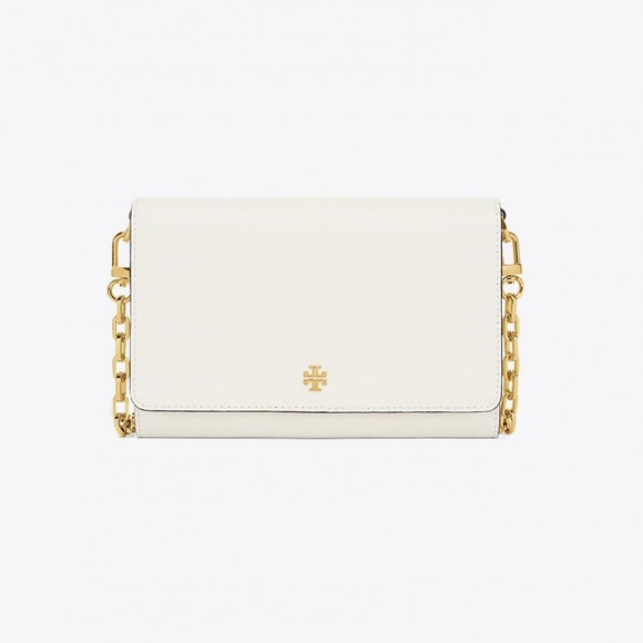 40c3ac65773 NEW TORY BURCH ROBINSON CHAIN WALLET COLOR IVORY
